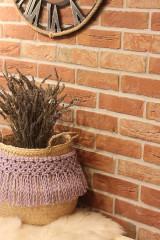 Dekorácie - Levanduľový košík z morskej trávy LAVANDER - 12965967_