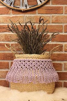 Dekorácie - Levanduľový košík z morskej trávy LAVANDER - 12965982_