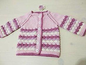 Detské oblečenie - Svetrík z malinovej peny 100% Baby merino - 12968043_