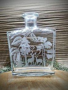 Nádoby - Gravírovaná fľaša, jeleň 60 - 12970997_