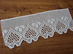 Úžitkový textil - háčkovaná vitrážková záclonka - 12973309_