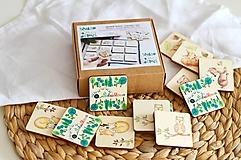 Hračky - Drevené pexeso Zvieratká v lese - 12971612_