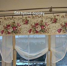 Úžitkový textil - Záclona bordo ružičky - 12973179_