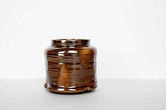 Dekorácie - Hnedá váza - 12971907_