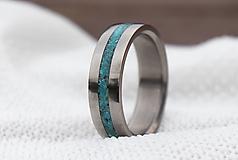 Prstene - Titanový prsteň s tyrkysom - 12973473_