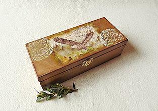 Krabičky - Drevená krabička Voľnosť - 12972060_