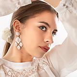 Náušnice - Karin v bielej - 12973292_