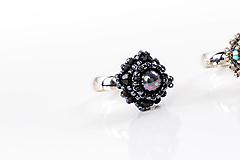 Prstene - prsteň Zina (prírodný minerál čierna perleť) - 12973386_