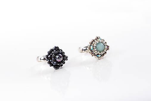 prsteň Zina (prírodný minerál čierna perleť)