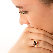 Prstene - prsteň Zina (prírodný polodrahokam pyrit) - 12973391_