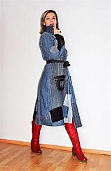 Šaty - rifľové recy-šaty - 12972601_