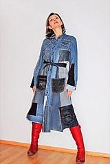 Šaty - rifľové recy-šaty - 12972602_