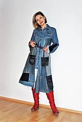 Šaty - rifľové recy-šaty - 12972608_