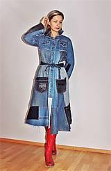 Šaty - rifľové recy-šaty - 12972609_