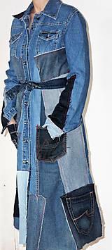 Šaty - rifľové recy-šaty - 12972610_