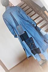 Šaty - rifľové recy-šaty - 12972611_