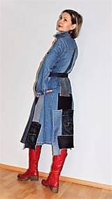 Šaty - rifľové recy-šaty - 12972613_