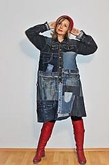 """Kabáty - kabát """"recy-jeansový"""" - 12972803_"""