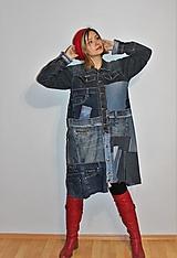 """Kabáty - kabát """"recy-jeansový"""" - 12972805_"""