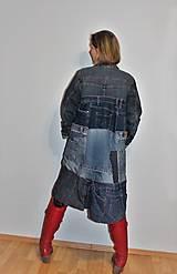 """Kabáty - kabát """"recy-jeansový"""" - 12972810_"""