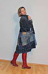 """Kabáty - kabát """"recy-jeansový"""" - 12972812_"""