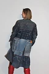 """Kabáty - kabát """"recy-jeansový"""" - 12972813_"""