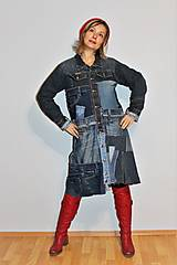 """Kabáty - kabát """"recy-jeansový"""" - 12972818_"""