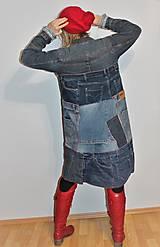 """Kabáty - kabát """"recy-jeansový"""" - 12972819_"""