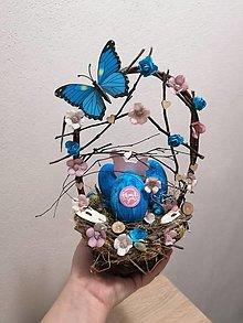 Dekorácie - Košík z vajíčkami. - 12970630_