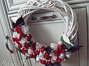 Dekorácie - Ružičky červené. - 12974353_