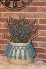Nádoby - Kvetináč Macramé kôš z morskej trávy APONTE - 12971320_