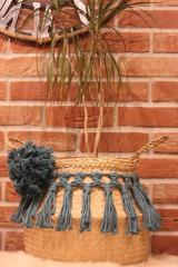 Nádoby - Kvetináč Macramé kôš z morskej trávy APONTE - 12971328_
