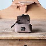 Kľúčenky - Kožená kľúčenka *Powder Brown* - 12972861_