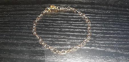 Náramky - Srdiečkový náramok 24k Au - 12972306_