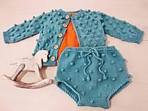 Detské súpravy - Guľôčkový komplet 100% Baby merino - 12971237_
