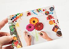 "Papiernictvo - Pohľadnica ""Gerbera flowers"" - 12975203_"