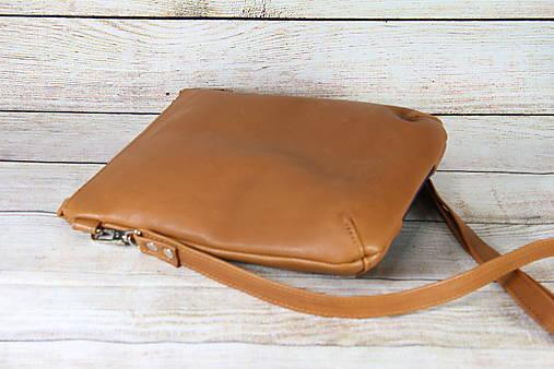 Kožená modrotlačová kabelka Dara hnedá AM 6