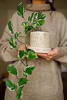 Nádoby - Kvetináč z kolekcie Piesok (Vzor III) - 12974431_