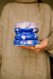 Nádoby - Bublinový kvetináč (Sakura nad jazerom) - 12974658_