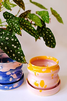 Nádoby - Bublinový kvetináč (Mangovo-jahodové smoothie) - 12974691_