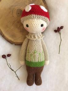 Hračky - Háčkovaná bábika Muchotrávka - 12975832_