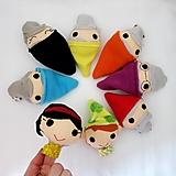 Hračky - Sada maňušiek na prst (Snehulienka a sedem trpaslíkov) - 12977185_
