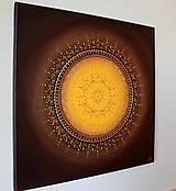 Obrazy - KVET ŠŤASTIA ŽLTÝ (brown) 50 x 50 - 12978003_