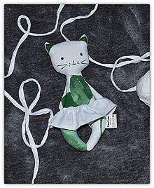 Hračky - Mačička s pískatkom - 12978517_