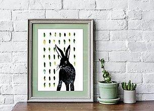 Grafika - Zajac poľný (1+1 podľa Vášho výberu) - 12975291_