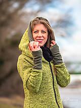 Kabáty - Mikino-kabátik + šatkošál + vak v rovnakom dizajne - 12975729_