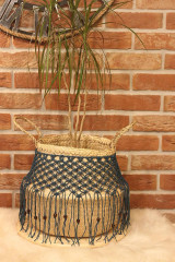 Nádoby - Bohémsky košík z morskej trávy Athéna - 12977555_