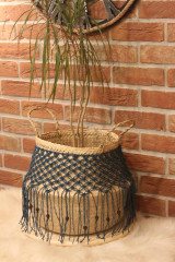Nádoby - Bohémsky košík z morskej trávy Athéna - 12977560_