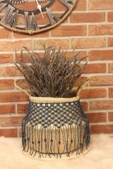 Nádoby - Bohémsky košík z morskej trávy Athéna - 12977566_