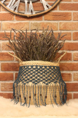 Nádoby - Bohémsky košík z morskej trávy Athéna - 12977592_